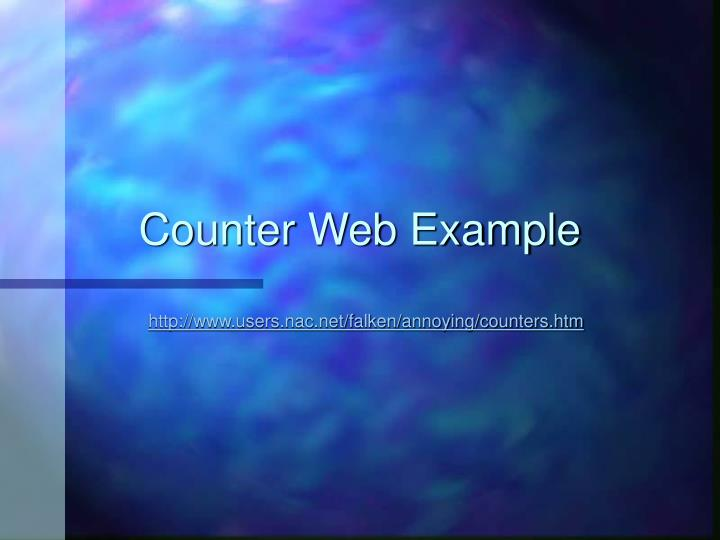 Counter Web Example
