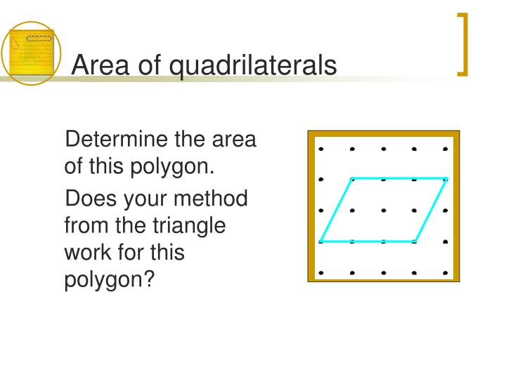 Area of quadrilaterals