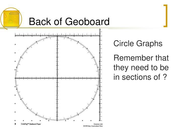 Back of Geoboard