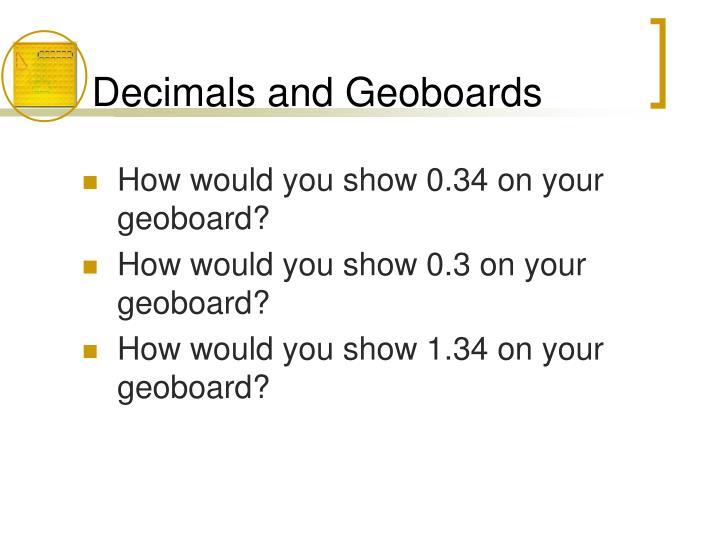 Decimals and Geoboards