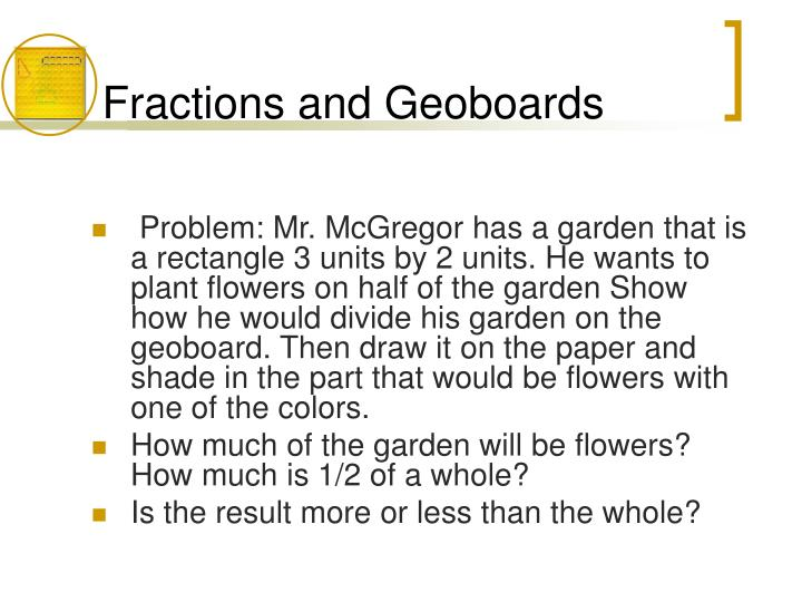 Fractions and Geoboards