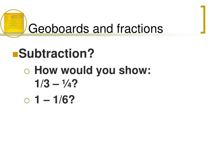 Geoboards and fractions