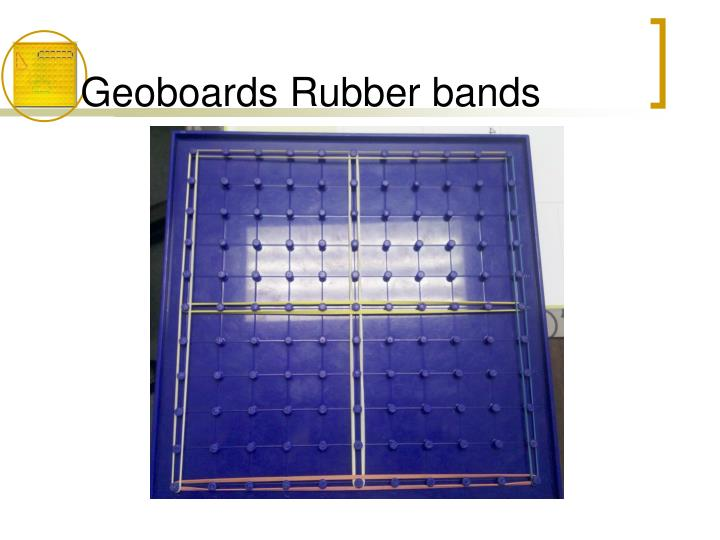 Geoboards Rubber bands
