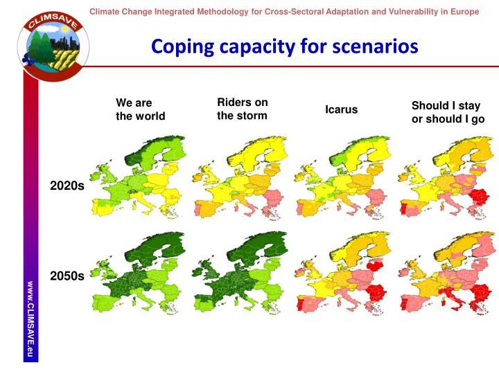 Coping capacity for scenarios