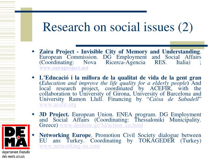 Research on social issues (2)