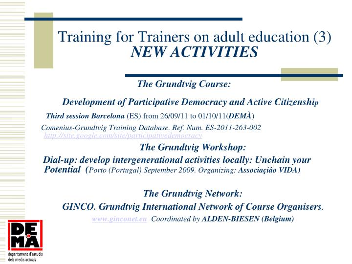 Training for Trainers on adult education (3)