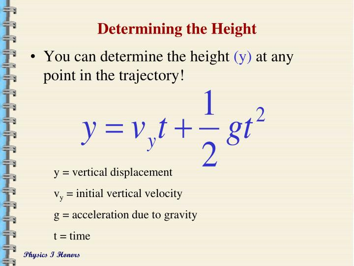 Determining the Height