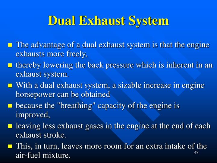 Dual Exhaust System