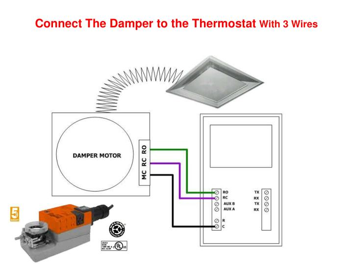 Connect The Damper to the Thermostat