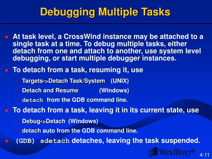 Debugging Multiple Tasks