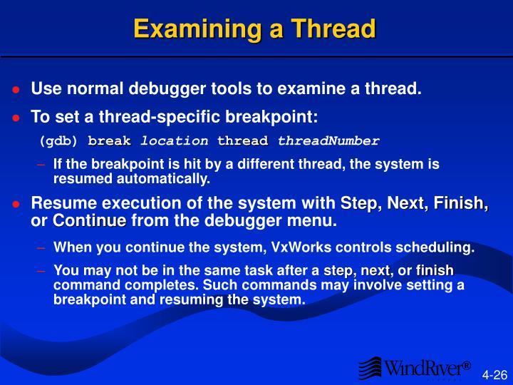 Examining a Thread