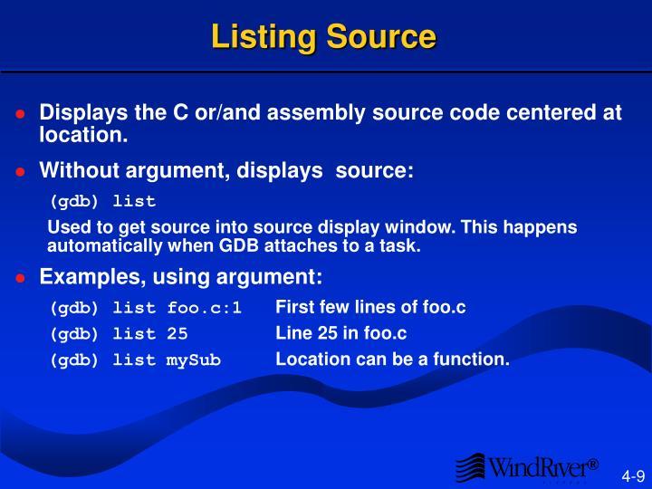Listing Source