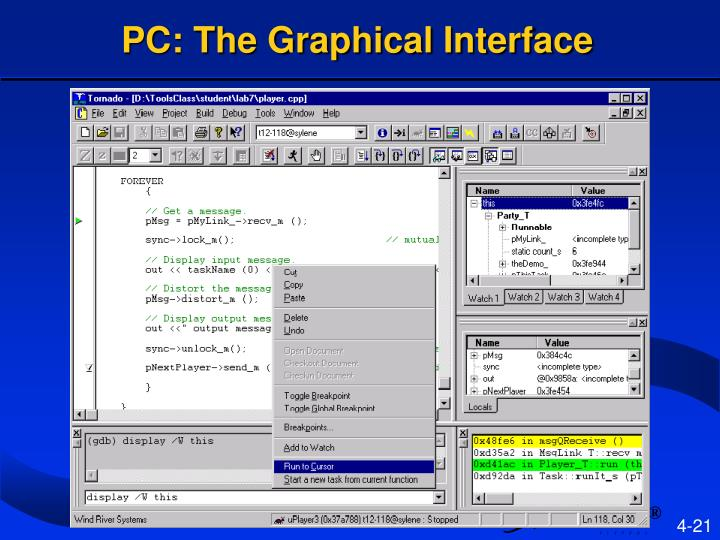 PC: The Graphical Interface