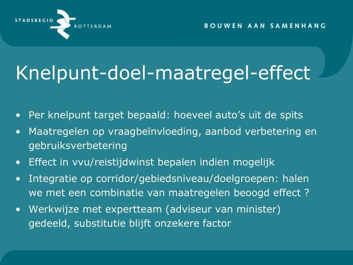 Knelpunt-doel-maatregel-effect