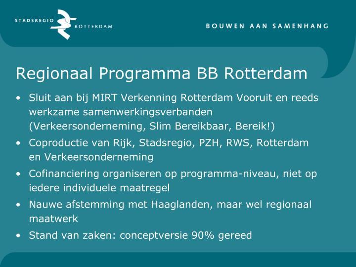 Regionaal Programma BB Rotterdam