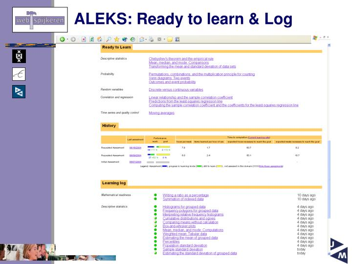 ALEKS: Ready to learn & Log