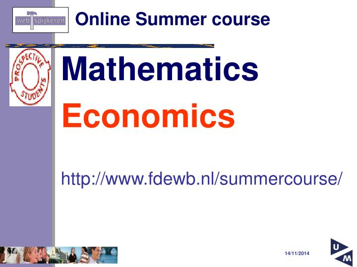 Online Summer course