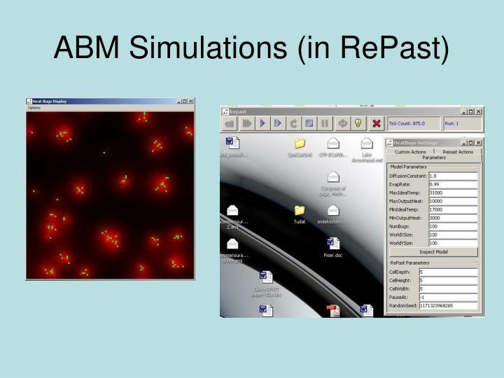 ABM Simulations (in RePast)