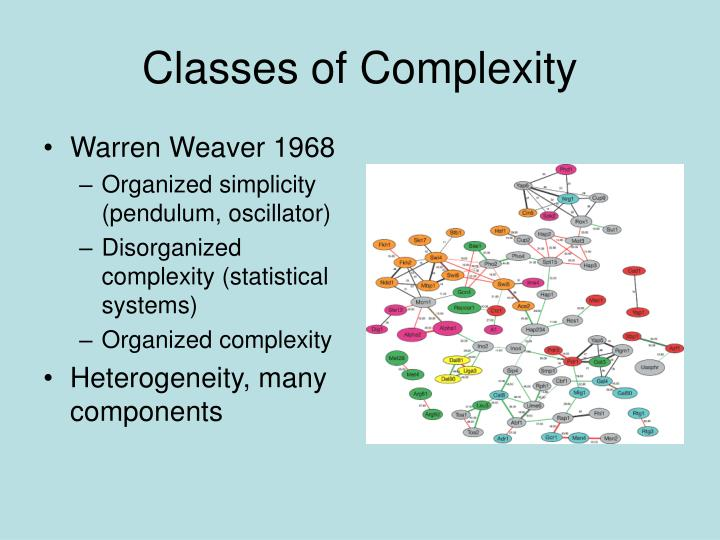 Classes of Complexity