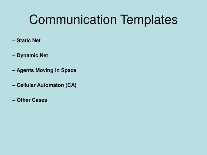 Communication Templates