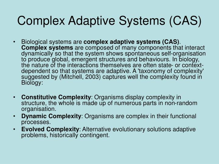 Complex Adaptive Systems (CAS)