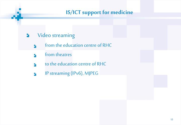 IS/ICT support for medicine