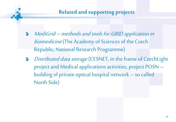 Related and supporting projects