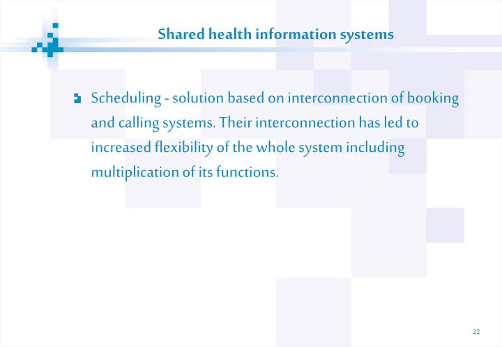 Shared health information systems