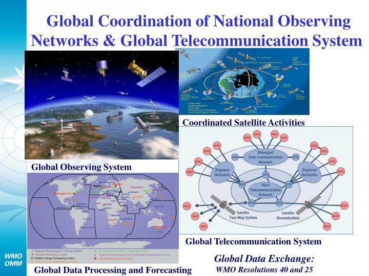 Global Coordination of National Observing Networks & Global Telecommunication System