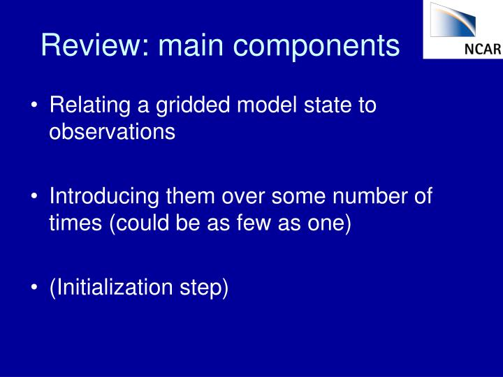 Review: main components