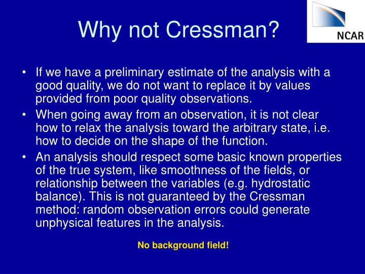 Why not Cressman?