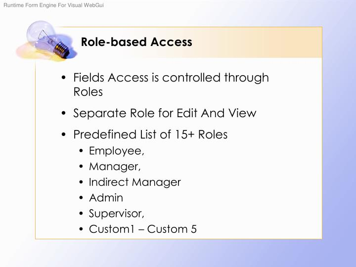 Role-based Access