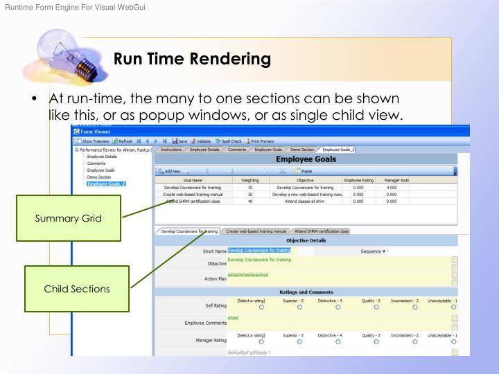 Run Time Rendering