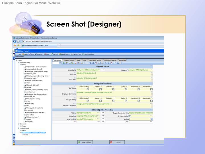 Screen Shot (Designer)