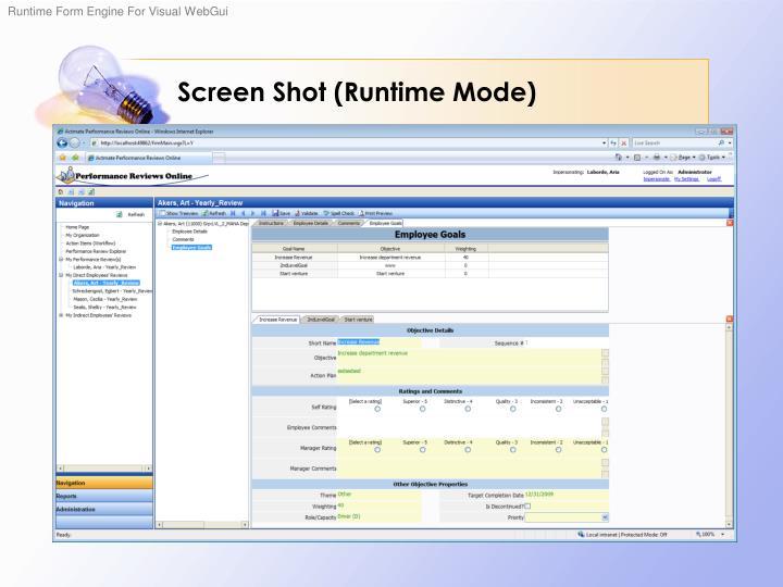Screen Shot (Runtime Mode)