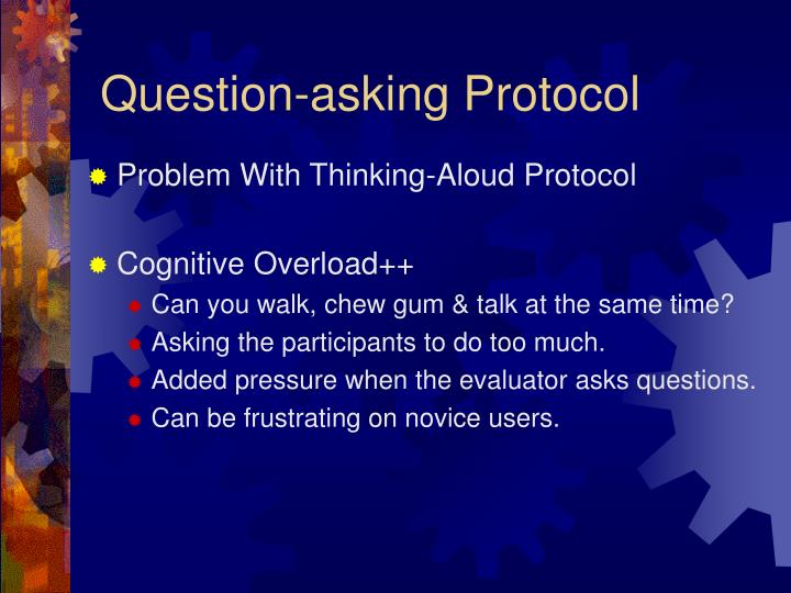 Question-asking Protocol