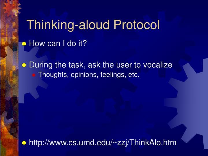 Thinking-aloud Protocol