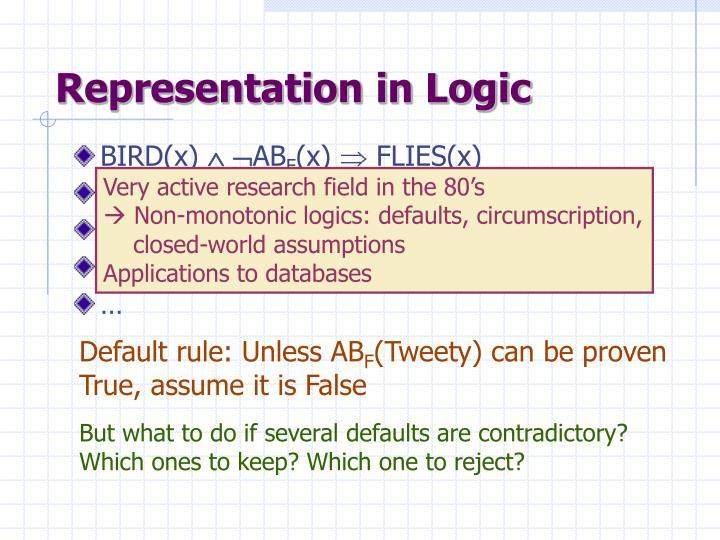 Representation in Logic
