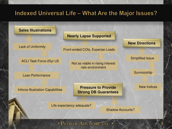 Indexed Universal Life – What Are the Major Issues?