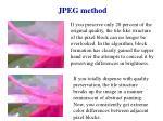 jpeg method2