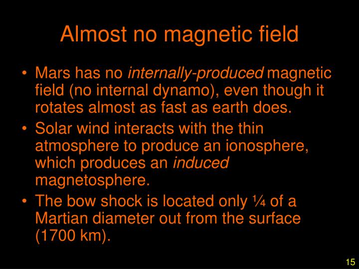 Almost no magnetic field