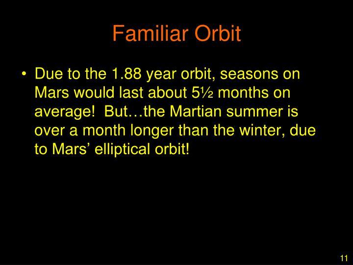 Familiar Orbit
