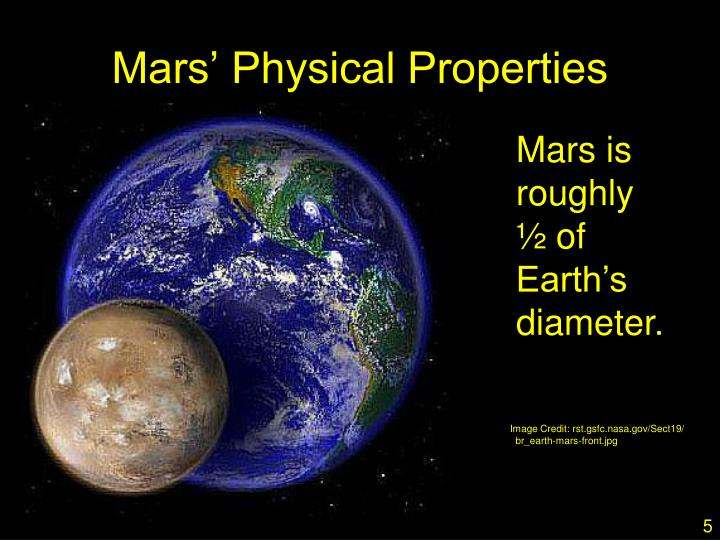 Mars' Physical Properties