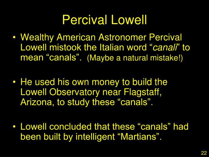 Percival Lowell