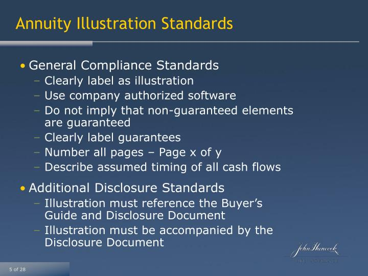 Annuity Illustration Standards