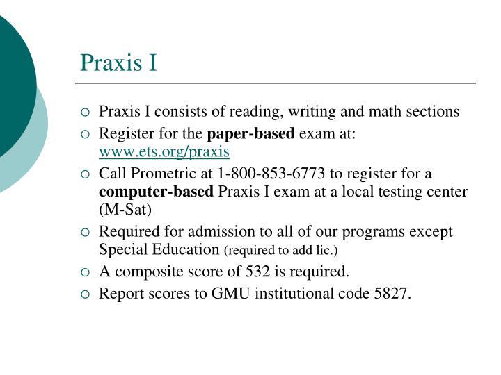 Praxis I