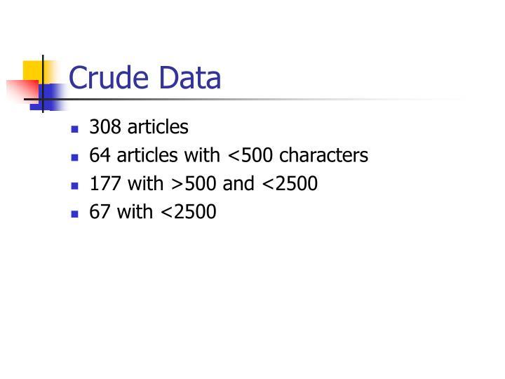 Crude Data