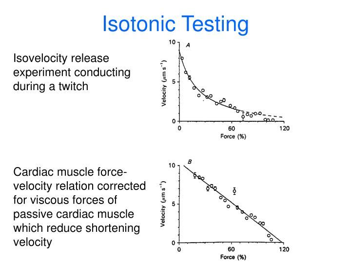 Isotonic Testing