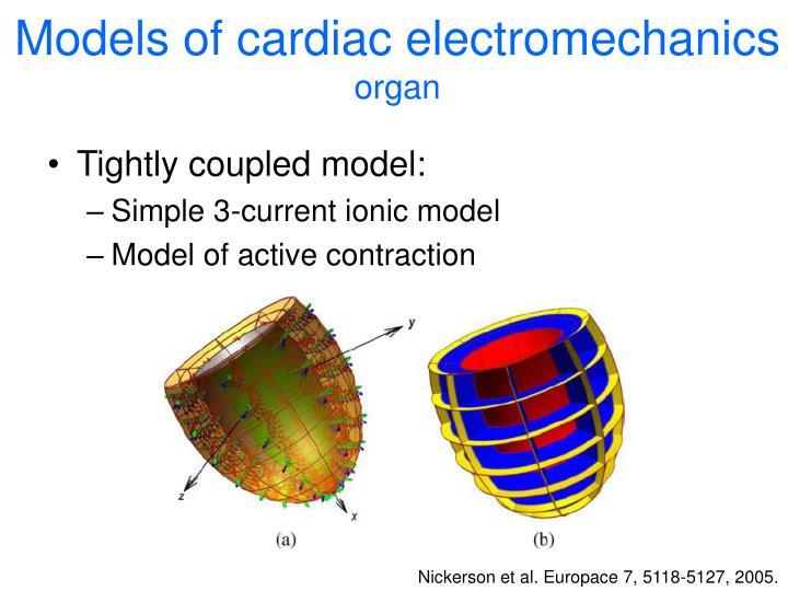 Models of cardiac electromechanics