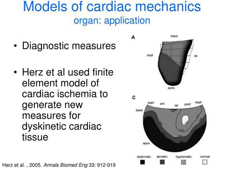 Models of cardiac mechanics